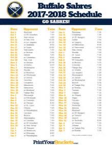 printable buffalo sabres hockey schedule 2017 2018