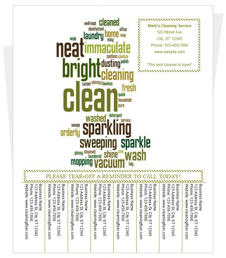 tear off flyer template fresh free flyer templates microsoft word