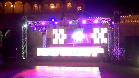 wedding dj layout medium budget dj stage sound light with led wall setup for