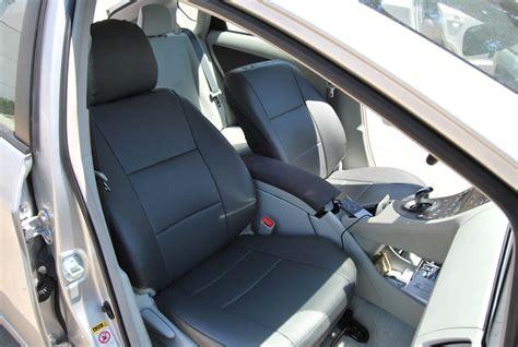 toyota prius leather seats uk toyota prius 2007 2010 leather like custom seat cover ebay