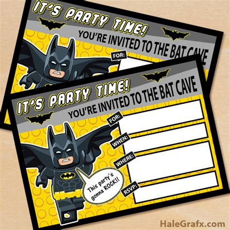 printable birthday invitations batman free printable lego batman birthday invitation