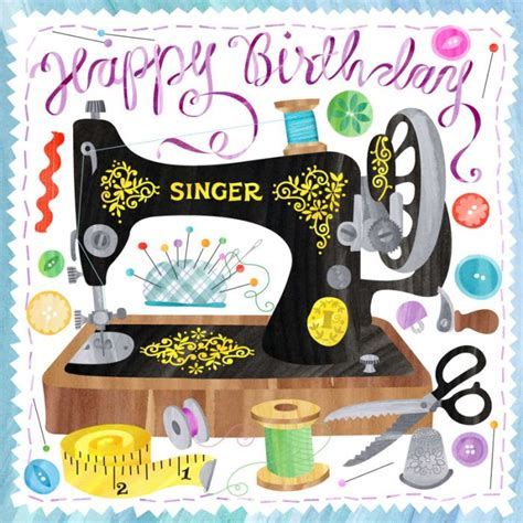 Sewing Machine Birthday Card 190 best images about cards birthday clip on
