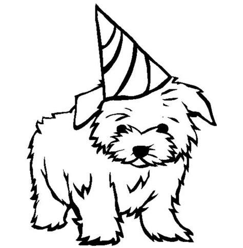 happy birthday dog coloring pages puppy dandie dinmont terrier puppy for your birthday