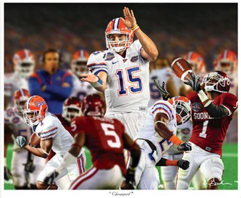 Florida Gators Re Chomp As National Chions by Florida Gators Chomped Tim Tebow Sports Print