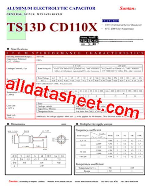 capacitor datasheet pdf ts13de cd110x datasheet pdf suntan capacitors