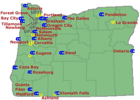 map of oregon universities map of oregon colleges and universities college