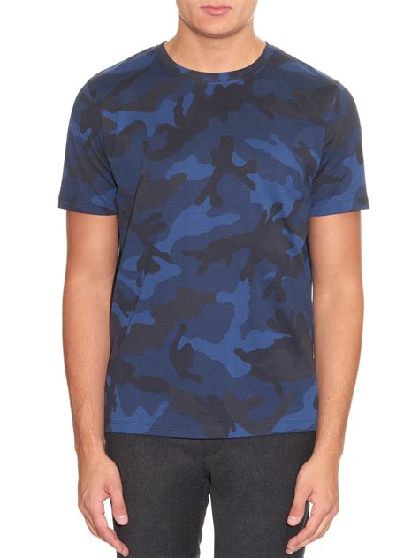Swimava Neck Ring Blue Camo lyst valentino camouflage print cotton jersey t shirt in blue for
