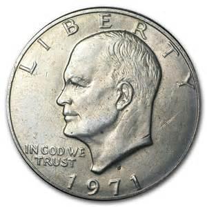 1971 s 40 silver eisenhower dollar bu eisenhower