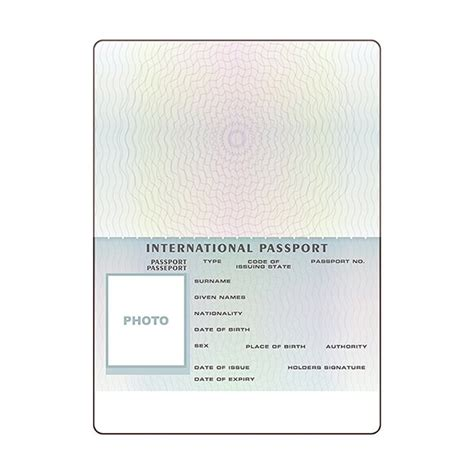 passport template open international passport template graphic objects