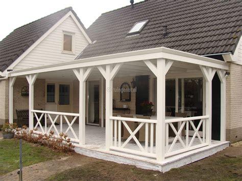 veranda zelfbouw tuingenot lariks houten veranda overkapping met epdm