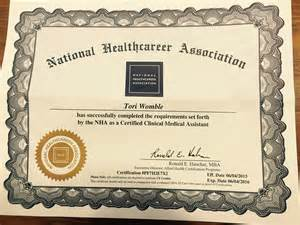 nha certified clinical assistant certification