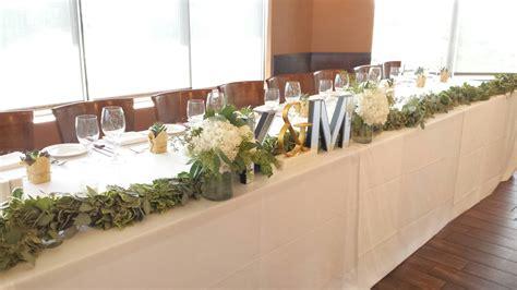 wedding head table wedding reception head table flowers dahlia floral