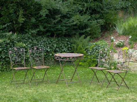 ebay garden table and chairs garden table and 4 chairs iron antique garden furniture ebay