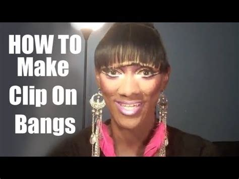 how to create fake bang how to make clip on bangs youtube