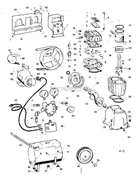 sears craftsman air compressor parts 106 154580