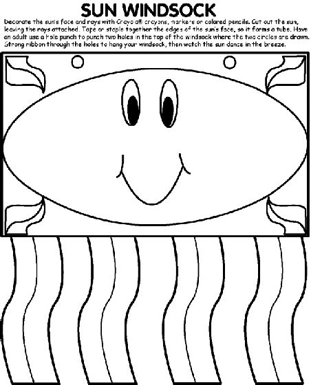 windsock template sun windsock coloring page crayola
