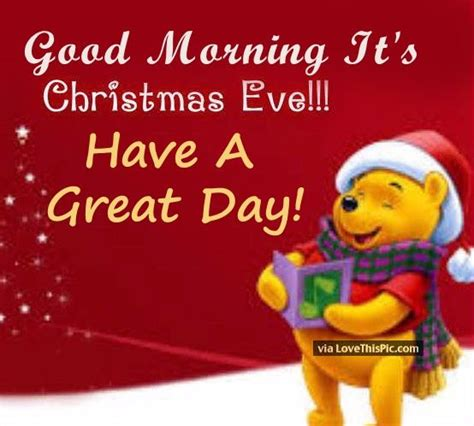 good morning christmas eve quote pictures   images  facebook tumblr pinterest