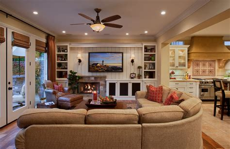 Family Room Remodeling Ideas | cool red sectional sofa with recliner decorating ideas