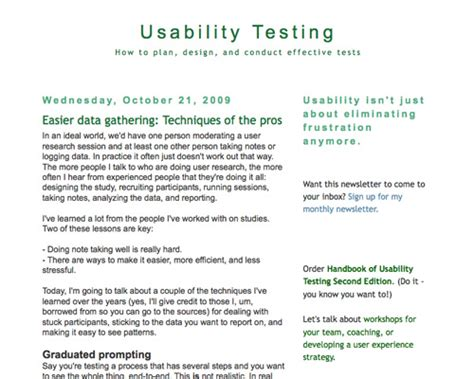 usability test report template usability testing toolkit resources articles and techniques noupe