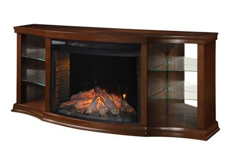 muskoka electric fireplace with 33 quot curved view