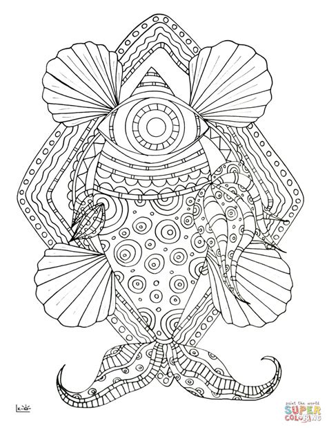 tribal pattern coloring pages fish with tribal pattern coloring page free printable