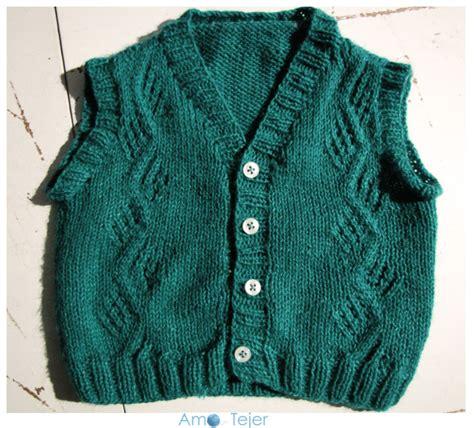 chalecos abiertos a dos agujas para mujer chaleco para beb 233 vest for baby amo tejer