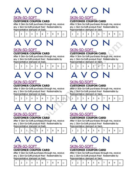 avon gift certificates templates free 130 best avon idea s images on avon ideas