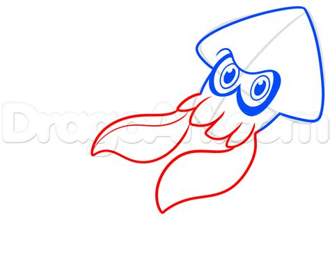 how to draw how to draw blue squid from splatoon step by step