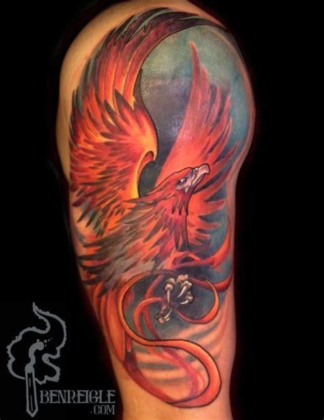 phoenix vogel tattoo 25 beste idee 235 n over phoenix tattoo sleeve op pinterest