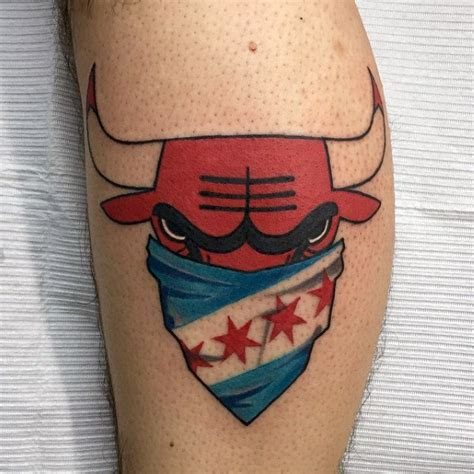 chicago bulls tattoo 50 chicago bulls designs for basketball ink ideas