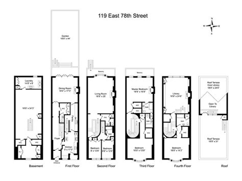 nyc brownstone floor plans free home plans brownstone home plans