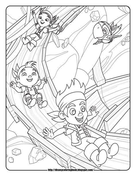 free jake and the neverland coloring pages