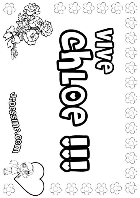 coloring pages with the name madison coloriages chloe fr hellokids com