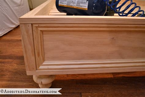 can you attach a headboard to a platform bed diy stained wood raised platform bed frame part 2