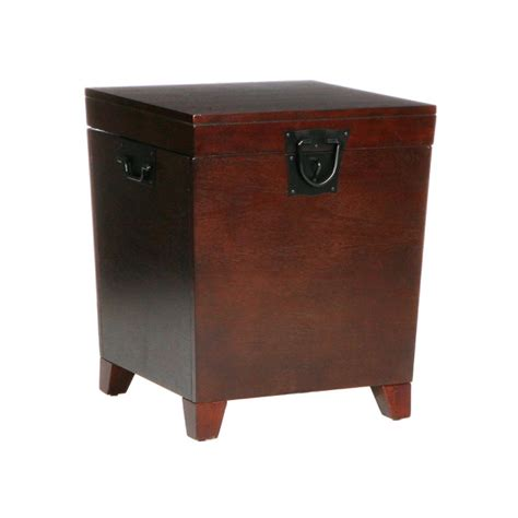 Espresso Accent Table Sei Espresso Pyramid Trunk End Table End Tables Living Room