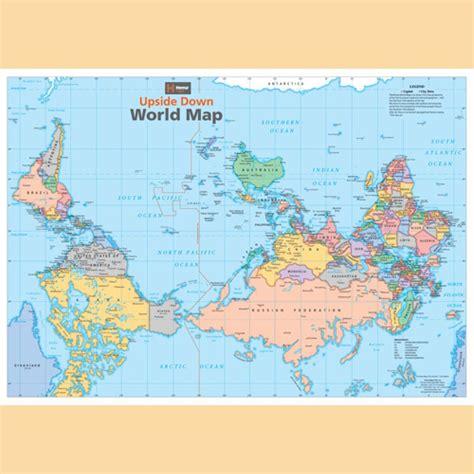 karten de weltkarte auf dem kopf quot world map quot landkarte