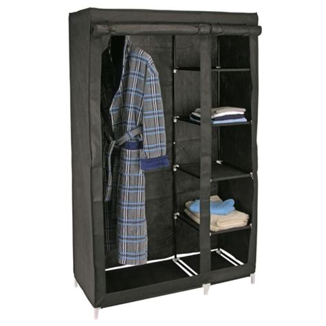 kleiderschrank kaufen kleiderschrank stoffschrank 110x46x178cm schwarz