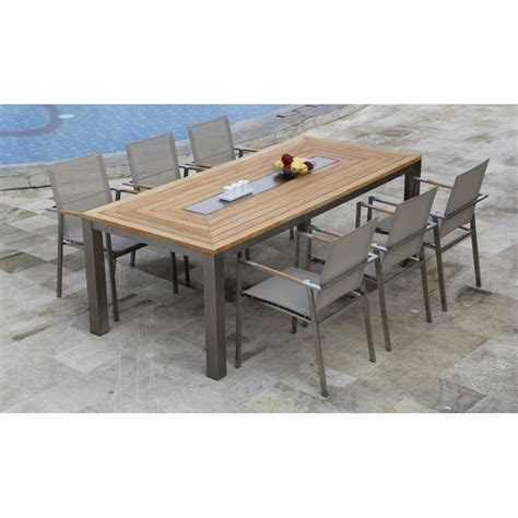 Teak Steel Dining Set Signature Teak Steel Table Dining Table Set Steel