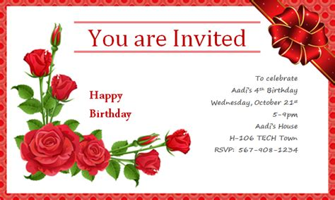 happy birthday invitation card template free ms word creative design happy birthday cards document