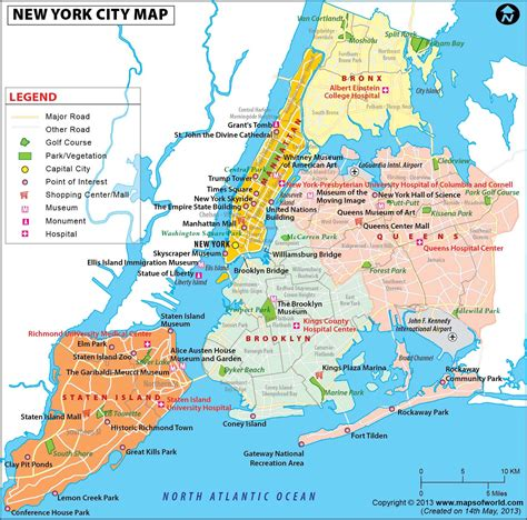 america new york map nyc map map of new york city