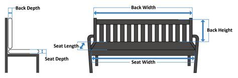 bench measurement bench seat cushions the cushion warehouse