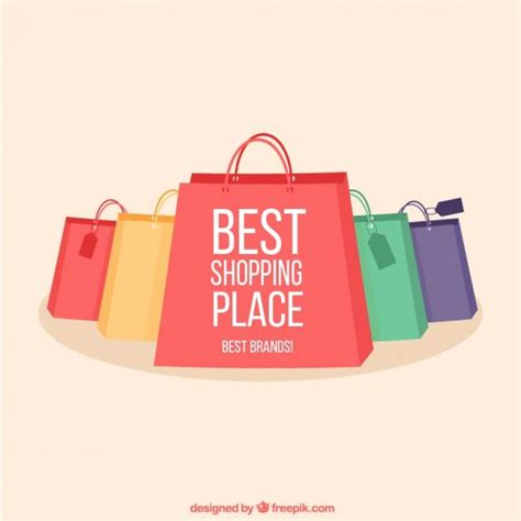 Shopping Bags by Shopping Bags Collection Vector Free