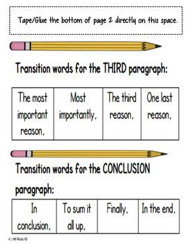 Persuasive Essay Linking Words by Persuasive Writing Linking Words Transitions List By A Pizzaz