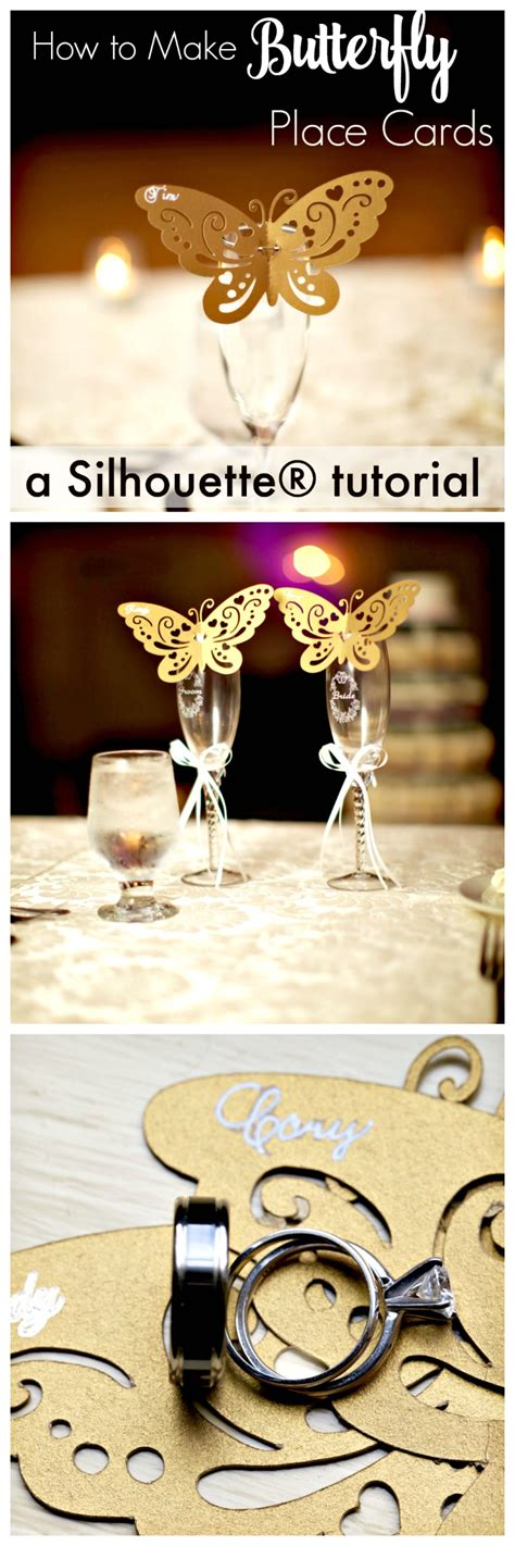 how to make wedding placement cards how to make butterfly place cards with silhouette cameo create and babble