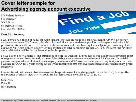 Advertising Executive Cover Letter by Advertising Agency Account Executive Cover Letter