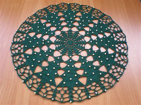round christmas tree crochet tablecloth crochet nook