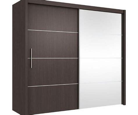 Sliding Wardrobe Door Mechanism by Inova Sliding Door Wardrobe Wenge Brown 200cm By