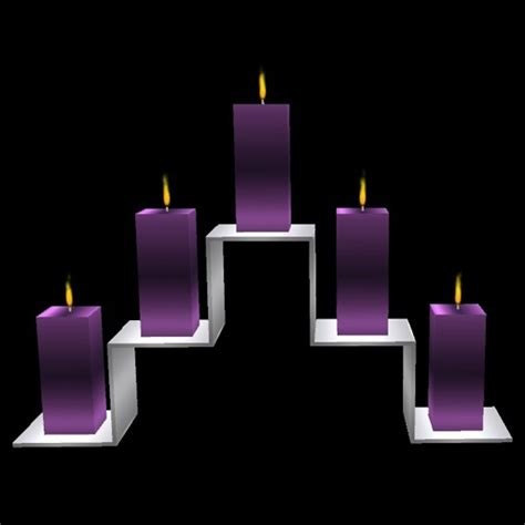 Purple Candles Purple Candles Candlelite