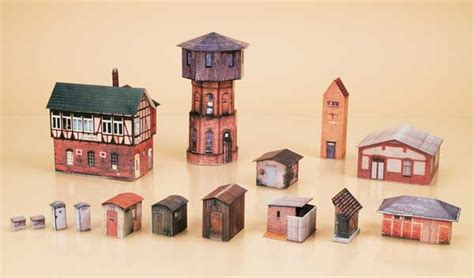 How To Make A Water Tower With Paper - auhagen water tower set paper model eurotrainhobby