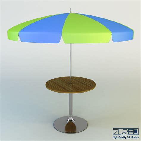 Umbrella Patio Table 3d Patio Table Umbrella Model